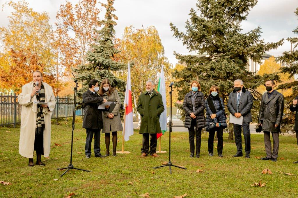 Unveiling the SUN DANCE sculpture in Sofia with the support of JBBA member companies in Bulgaria
